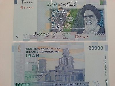 Iran 20000 (20,000) Rials Banknotes-Un-Circulated paper money
