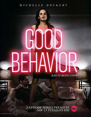 Good Behavior 1-page clipping ad 2016 TNT series Michelle Dockery