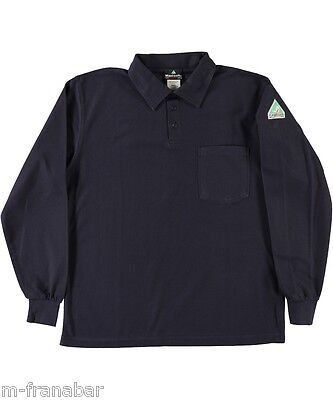Men FLAMESAFE MAXISOFT L/S POLO Shirt w/Pocket Flame Resist/Retard HRC2 New