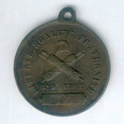 FRANCE. Medal of the Society of the Rights of Man,  numbered '16', 1790-1794