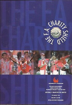 Arsenal v Manchester United - Charity Shield - 7/8/1993 - Football Programme