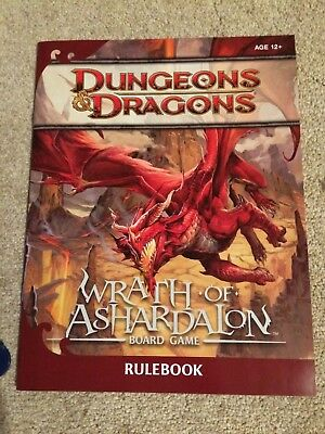 Dungeons & Dragon Wrath of Ashardalon board game - Only used once.