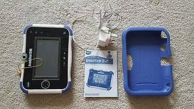 Blue Vtech Innotab 3S Kids Tablet With Protective Cover 3-9 Years + 6 games