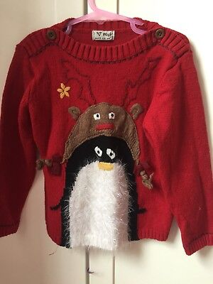Next Red Christmas Jumper 5-6 Years