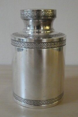 Quality Antique Silver Plated Tea Caddy, Marked To Base