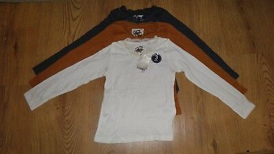 Next Girls Pack Of 3 Long Sleeved Tops Age 4-5 Years Bnwt Autumn Colours