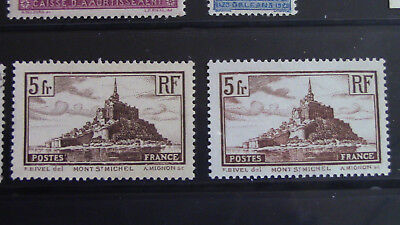 France 1930 lot 2 Timbres N°260** Neuf Luxe gomme origine