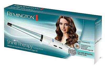 Remington CI53W Shine Therapy Conical Ceramic Hair Curling Wand-Brand New