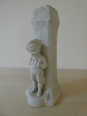 William Goebel Hummel Porcelain Spill Vase With Little Boy Figure