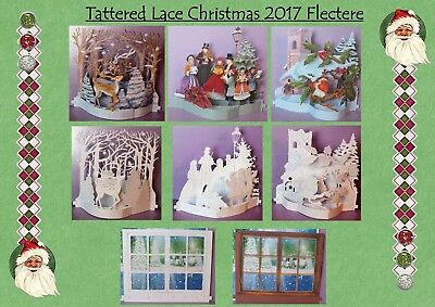 NEW! x3 Full Sets Tattered Lace Christmas 2017 Flectere Die Cut Sets/Pick 'N Mix