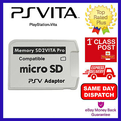Sd2Vita Adapter 3.0 For Ps Vita 3.60 Henkaku Micro Sd Memory Card Psvita - New