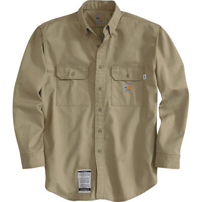 Carhartt® Flame Resistant Twill Shirts Size M FRS160KHI