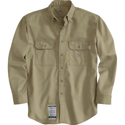 Carhartt® Flame Resistant Twill Shirts Size XL FRS160KHI