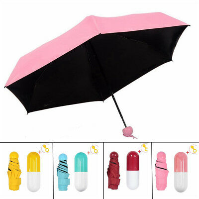 5 Folding Ultra Mini and Light Umbrella Travel UV Protection Parasol for Women