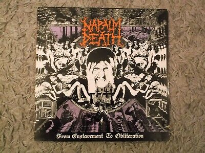 Napalm Death - From Enslavement To Obliteration - 1988 Lp With Inner