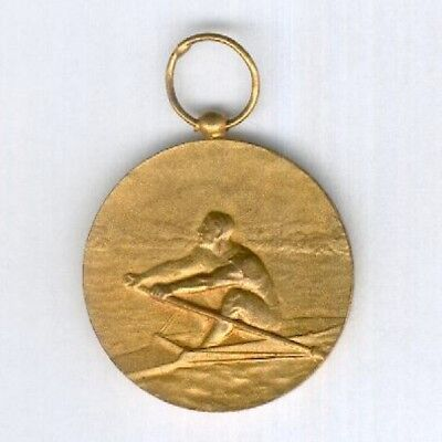 FRANCE.  Aquitaine Rowing Championship 'gold' Medal 1968 by Chobillon of Paris