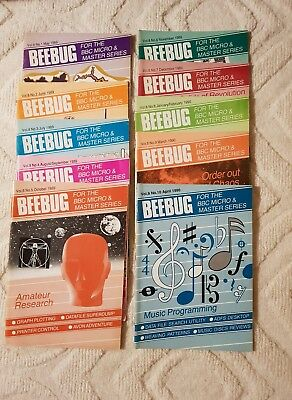 Beebug Magazine for BBC Micro & Master series: Volume 8 Complete, good condition