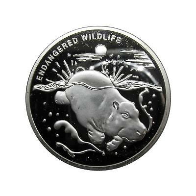 N705 10 Francs 2007 Congo Endangered Wildlife Hippo proof coin FREE SHIPPING