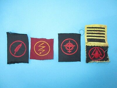 4 Vintage Obsolete Israel Army IDF Technician Profession Shoulder Patches Tags
