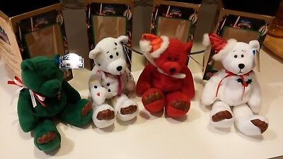 4 Limited Treasures Holiday Edition 98' Bears  w/boxes