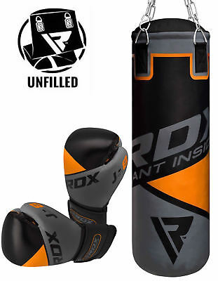 RDX Unfilled Kids Punching Bag Junior Boxing Gloves Heavy Children Training BK