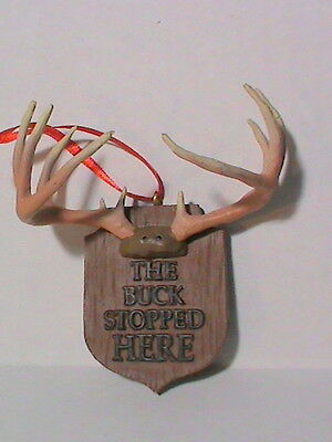 The Buck Stopped Here Christmas Ornament