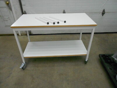 "47⅜"" X 23⅝"" Laminate Top 1 Shelf Laboratory Bench/table Adjustable Legs & Wheels"