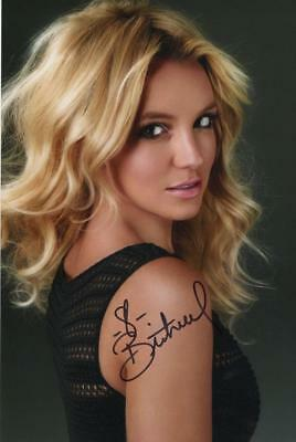 Britney Spears Genuine Autographed 12x8inch photograph