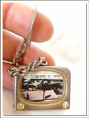 VINTAGE 1960's - ARGENTINA - ST CLEMENTE del TUYU- PHOTO ALBUM LOCKET KEY RING !