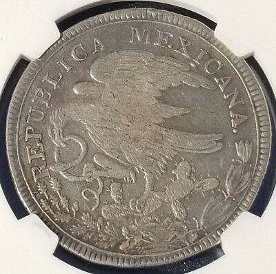 ☆☆☆ Extremely Rare 1825 Go Jm 8 Reales - Hookneck Eagle -  Ngc Vf30 ☆☆☆