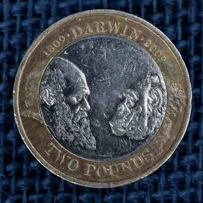 Commemorative £2 pound Coin, Charles Darwin, Origin of the Species