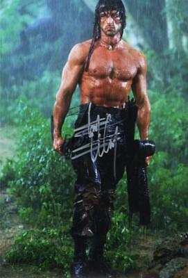 """Sylvester Stallone Genuine signed 12x8"""" photograph"""