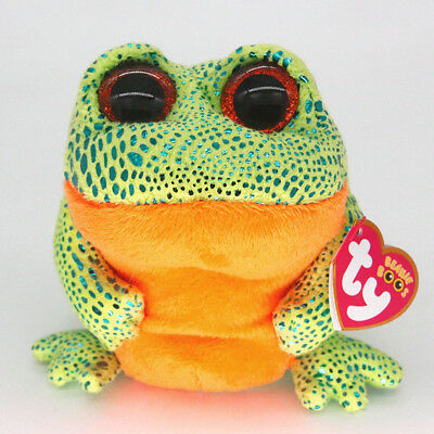 """6"""" Ty Beanie Boos Speckle Frog Reg Stuffed Animal Plush Toys Child Gifts Y1"""