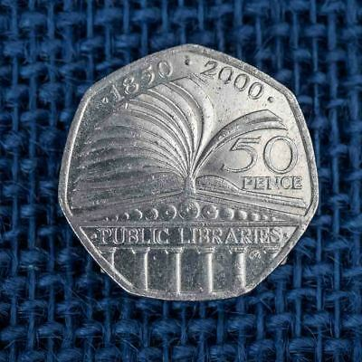 Commemorative 50p pence Coin, Libraries 2000