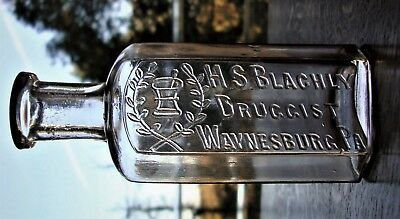 Nice H.S. BLACHLY DRUGGIST BOTTLE ~ WAYNESBURG, PENNSYLVANIA ~ Greene County
