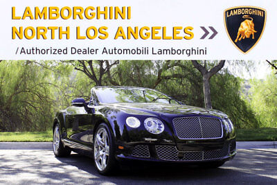 2013 Bentley Continental GTC GTC Convertible 2-Door MULLINER PKG+NAV+RR CAM+PWR HEATED/COOLED SEATS+PIANO BLACK+REAR VIEW CAMERA