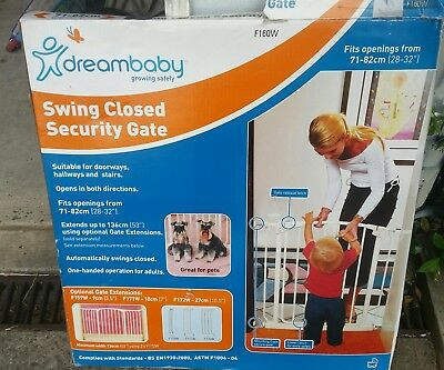 71 - 82 cm DREAMBABY Safety Baby/ dog/ pet Rail Swing Close Security Gate