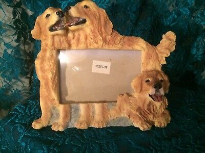 GOLDEN RETRIEVER Picture Frame Dog Puppy Gift Holiday Friend Fun Never Used NOS