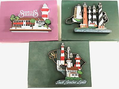 Lot Of 3 Shelia's Collectibles North And South Carolina 1 Numbered Artist Proof