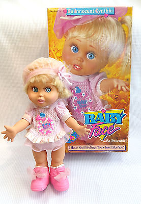 Vintage Galoob Baby Face So Innocent Cynthia Doll with original box magic charm
