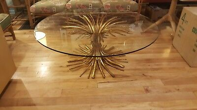 Mid Century Modern Gilded Sheath of Wheat Coffee Table