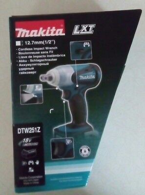 Makita DTW251Z 18v Cordless Impact Wrench*New in Box*