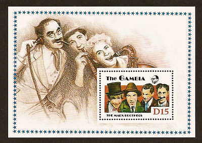 Gambia 776 - Marx Brothers - sheetlet of one stamp issued 1988 - NH Groucho