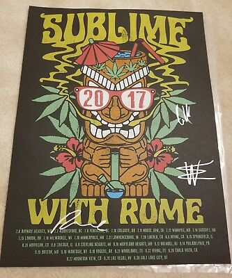 """Sublime With Rome signed / autographed 18"""" x 24"""" silkscreen poster."""
