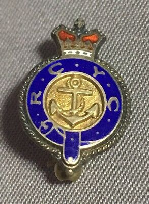 Royal Canadian Yacht Club Toronto Sterling Silver Lapel Tie Pin Sailing Boat