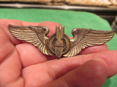 WW2 Army Air Corps Aircraft Pilots Wings Bomber Insignia No Marks