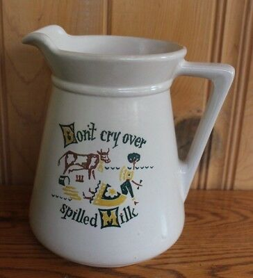 Sioux Falls Milk Foundation Don't Cry Over Spilled Milk Pitcher