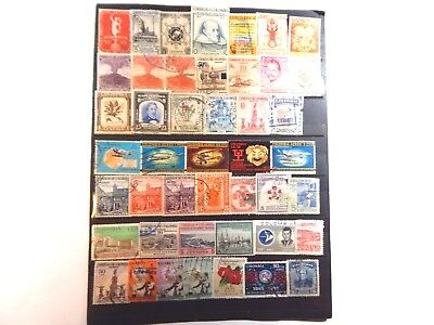 A super nice accumulation of 128 stamps from Columbia. ALL different.