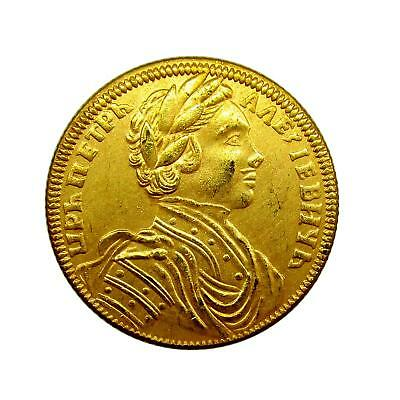 N640 Chervonets (10 rubles) 1711 Russia Peter I XF rare coin $0.01 FREE SHIPPING