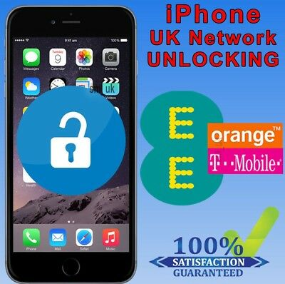Factory Unlocking Service For iPhone 6 6S & 6S Plus - UK EE Orange Tmobile